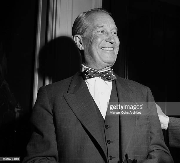 French actor Maurice Chevalier attends a party in Los Angeles California