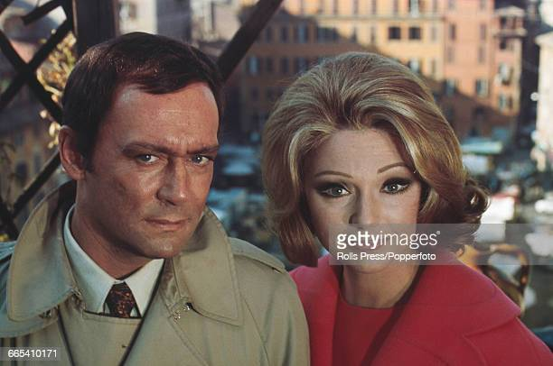 French actor Maurice Ronet pictured together with Yugoslavian born Italian actress Sylva Koscina during production of the film 'La Modification' in...