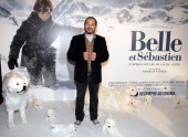French actor Mehdi El Glaoui poses before the presentation of the movie 'Belle and Sébastien' of French film director Nicolas Vanier on November 17...