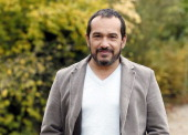 French actor Mehdi El Glaoui poses on November 21 2013 in Paris ahead of the release of the film 'Belle et Sebastien' on December 18 AFP PHOTO /...
