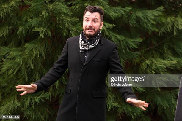 French actor Michael Youn gestures during photo session for the film ' Le fantome de Canterville' during 23rd Gerardmer Fantastic Film Festival on...