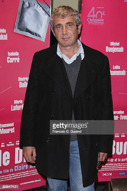 French Actor Michel Boujenah attends the 'Les Bureaux de Dieu' Paris Premiere at the UGC les Halles on November 3 2008 in Paris France