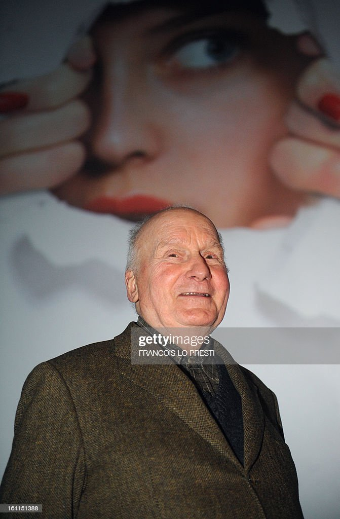 French actor Michel Bouquet arrives to address as guest of honour during Valenciennes Film Festival on March 20, 2013 in Valenciennes, northern France. Valenciennes Film Festival runs from March 18 to 24.