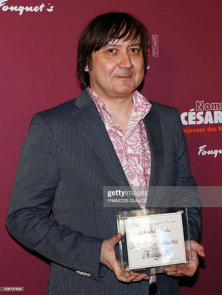 French actor Michel Fau, nominated as Best Actor in a Supporting Role, poses during the nominations event for the 2016 César film awards, on February 6, 2016 in Paris. The 41st Ceremony for the Cesar film award, considered as the highest film honour in France, will take place on February 26, 2016. / AFP / FRANCOIS GUILLOT