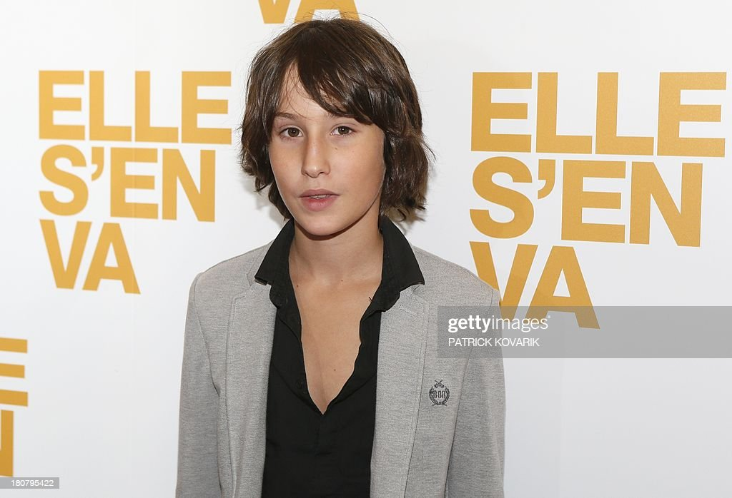 French actor Nemo Schiffman poses prior to attend the Premiere of his new movie 'Elle s'en va' ('On my way') directed by Emmanuelle Bercot, on September 16, 2013 in Paris.