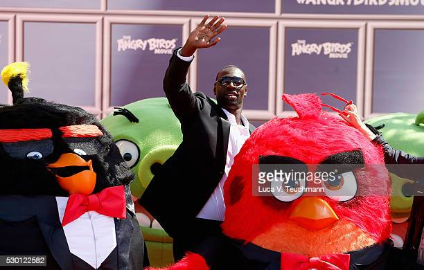 French actor Omar Sy attends 'The Angry Birds Movie' Photocall during the annual 69th Cannes Film Festival at JW Marriott on May 10 2016 in Cannes...