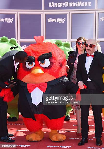 French actor Omar SyLebanese TV presenter Raya Abirached and Italian actor Maccio Capatonda attend 'The Angry Birds Movie' Photocall during the 69th...