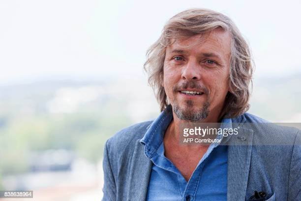 French actor Pascal Demolon poses during a photocall for the film 'Le rire de ma mère' during the 10th Francophone Angouleme Film Festival in...