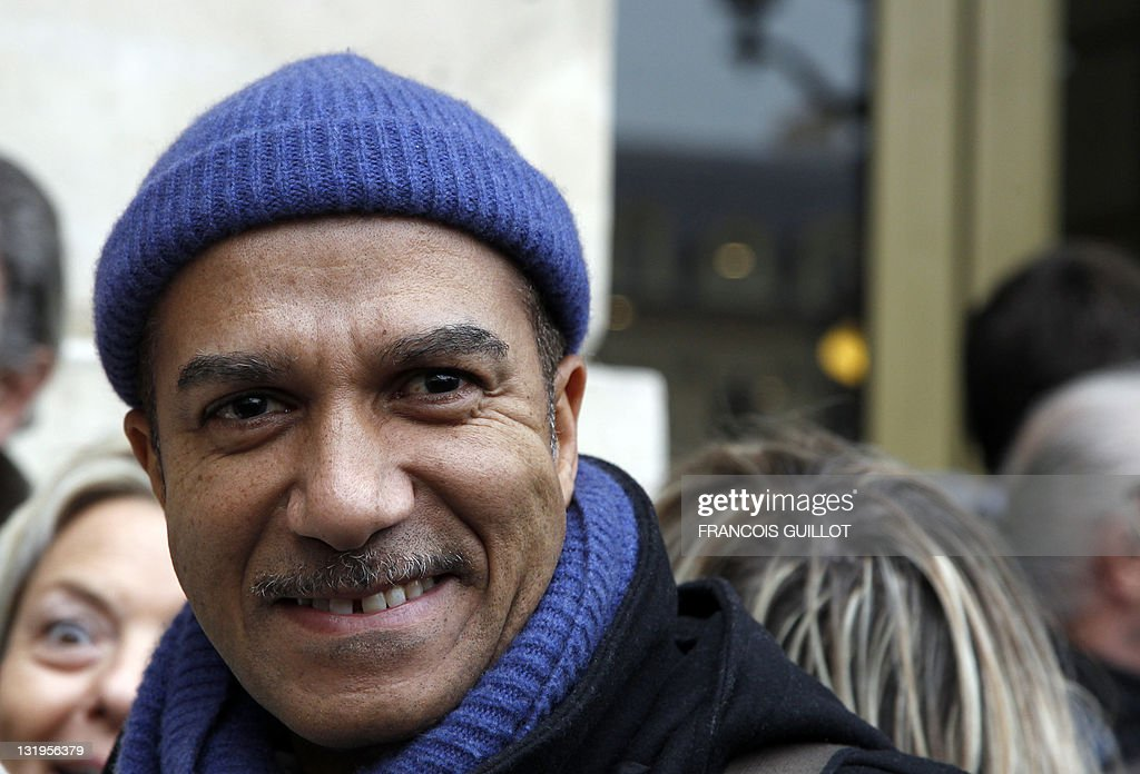 French actor Pascal legitimus is seen a he attends a ceremony to unveil a plaque to mark the building where French entertainer Henri Salvador had lived for 46 years, 6 place Vendome in Paris, on November 9, 2011. AFP PHOTO / FRANCOIS GUILLOT