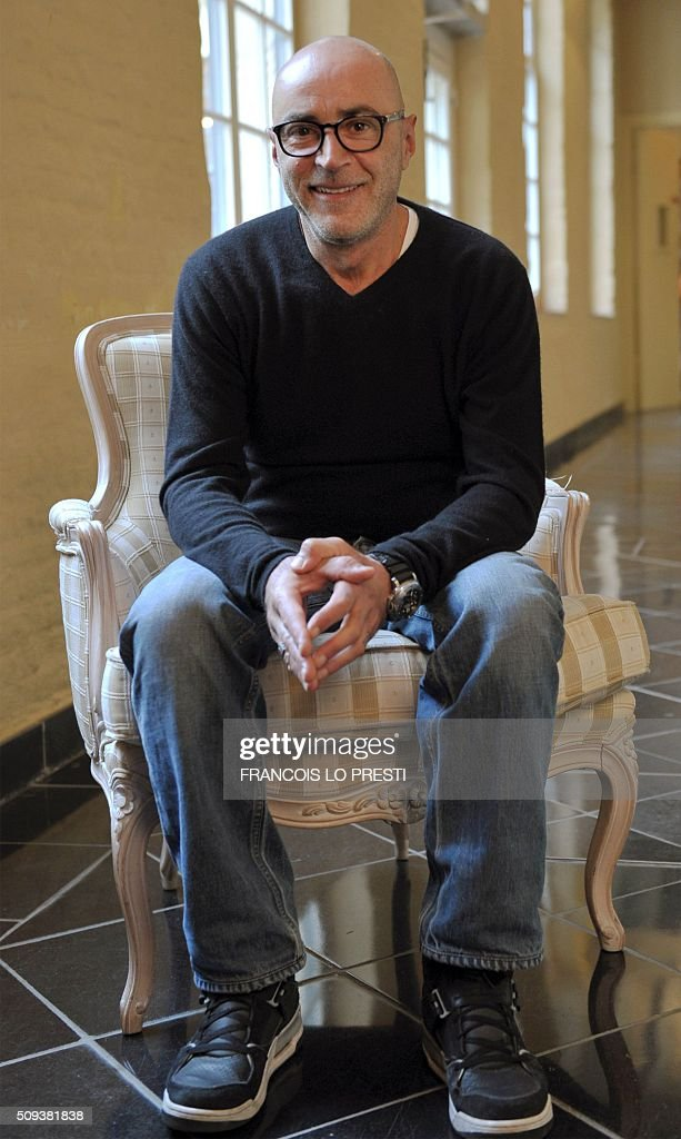 French actor Patrick Bosso poses on February 10, 2016 at the Gantois Holter in Lille, on the sidelines of a press conference for the presentaiton of his latest film 'Marseille' by French actor and director Kad Merad. / AFP / FRANCOIS LO PRESTI