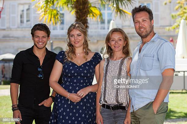 French actor Rayane Bensetti French actress Heloise Martin French actress Sylvie Testud and French director Alexandre Castagnetti pose during the...