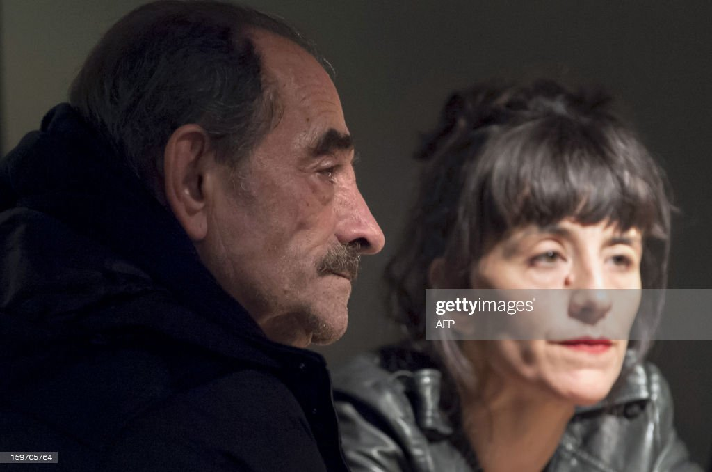 AUBRIAT- French actor Richard Bohringer and his daughter and actress Romane Bohringer give an interview at the manufacture theatre, on January 17, 2013 in Nancy, eastern France. The two actors will perform together for the first time in the play 'J'avais un beau ballon rouge', directed by Michel Didym.