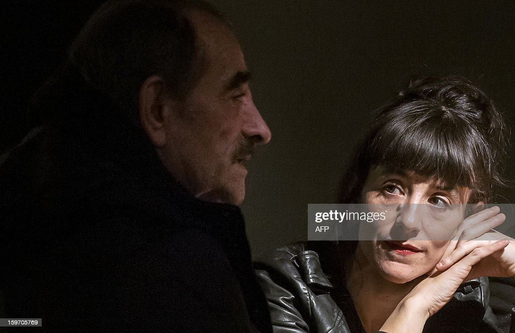 JANUARY 19 - French actor Richard Bohringer and his daughter and actress Romane Bohringer give an interview at the manufacture theatre, on January 17, 2013 in Nancy, eastern France. The two actors will perform together for the first time in the play 'J'avais un beau ballon rouge', directed by Michel Didym.