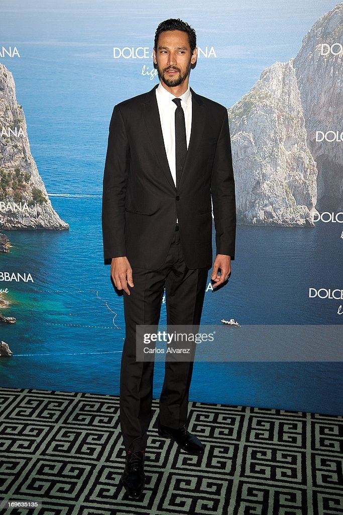 French actor Stany Coppet attends Mediterranean Summer Cocktail By Dolce & Gabbana at the Santo Mauro Hotel on May 29, 2013 in Madrid, Spain.