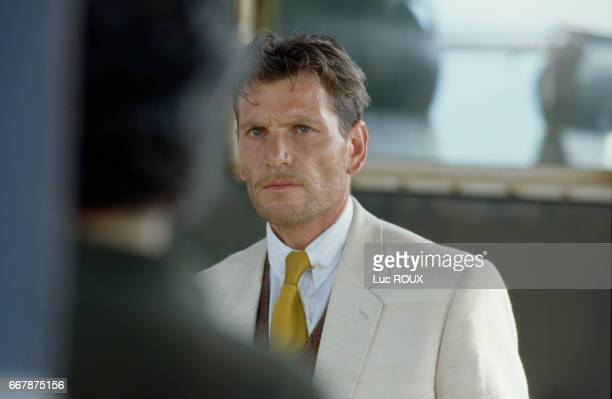 French actor Tcheky Karyo on the set of the film La Fille des Collines directed by Robin Davis