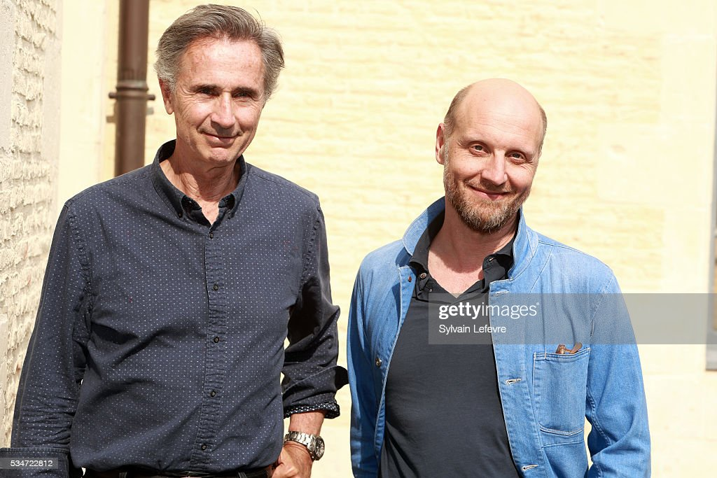 French actor Thierry Lhermitte (L) and director Thomas Vincent pose during photo session before press conference for the premiere of the film 'La Nouvelle Vie de Paul Sneijder' on May 27, 2016 in Lille, France.