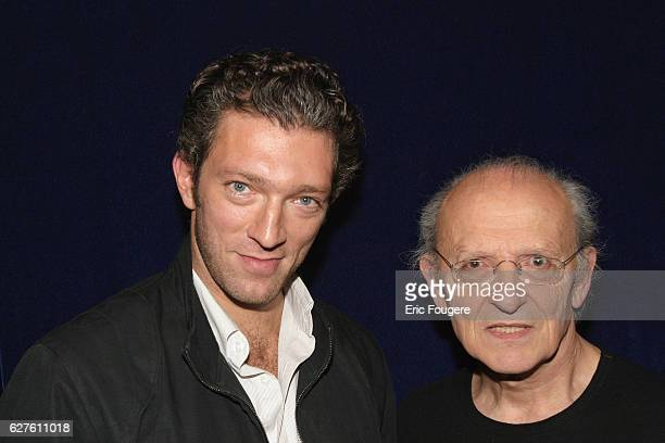 French actor Vincent Cassel who interprets the character of 'Blueberry' in the film of the same title with the creator of the comic strip Jean Giraud...