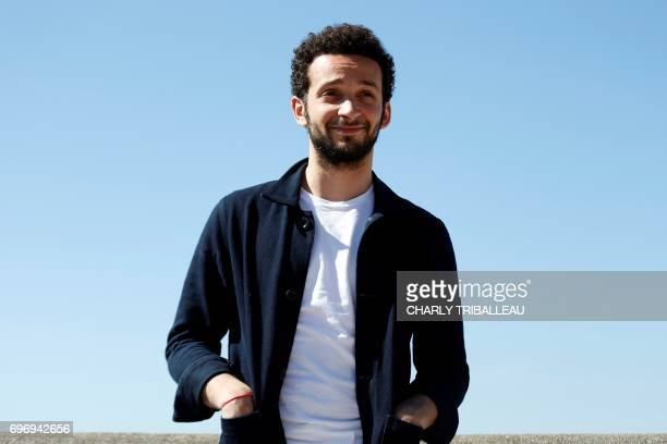 French actor William Lebghil poses during a photocall for the Cabourg Romantic Film Festival in Cabourg northwestern France on June 17 2017 / AFP...
