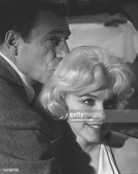 French actor Yves Montand and American actress Marilyn Monroe on set during the filming of their movie 'Let's Make Love' Los Angeles California April...