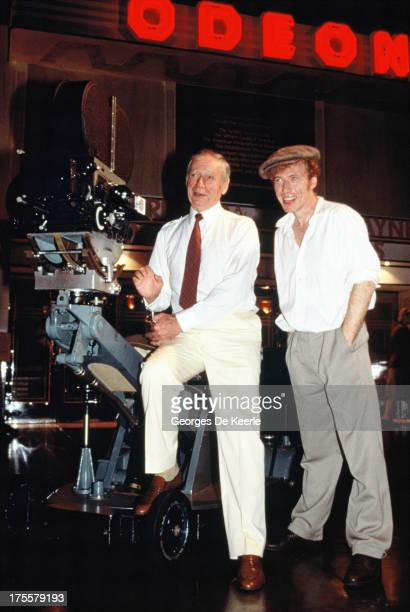 French actor Yves Montand filming at Odeon cinema on July 26 1989 in London England