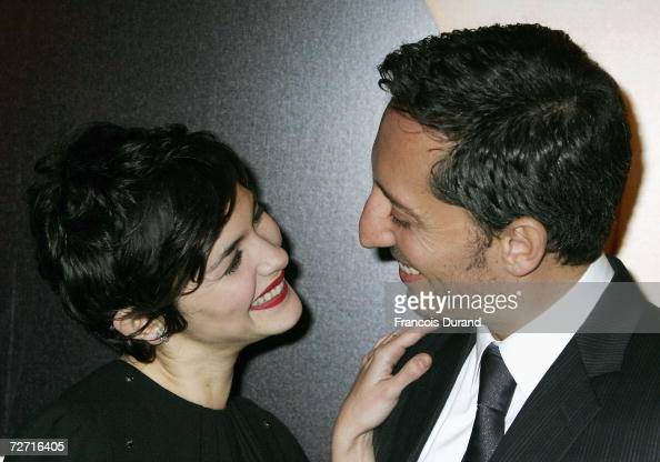 French actors Audrey Tautou and Gad Elmaleh attend the premiere of ' Hors De Prix ' at the UGC Normandie on December 4 2006 in Paris France
