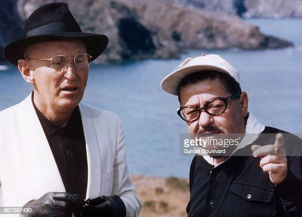 French actors Bourvil and Francis Blanche in the 1969 film 'L'Etalon' directed by JeanPierre Mocky