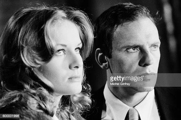French actors Dominique Sanda and JeanLouis Trintignant on the set of Sans Mobile Apparent based on the novel by Evan Hunter and directed by Philippe...