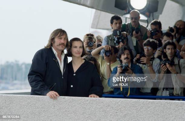 French actors Gerard Depardieu and Carole Bouquet attend the 42nd Cannes Film Festival