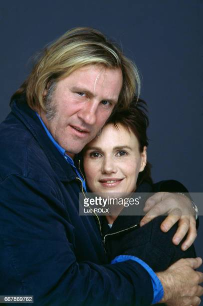 French actors Gerard Depardieu and Miou-Miou during the release of the film Germimal, based on the novel by Emile Zola and directed by Claude Berri.