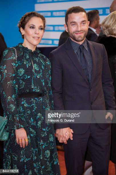 French actors Guillaume Gouix and Alysson Paradis arrive at the screening for 'mother' during the 43rd Deauville American Film Festival on September...