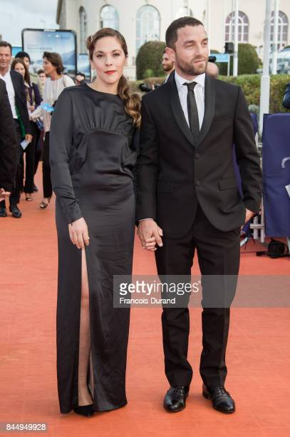 French actors Guillaume Gouix and Alysson Paradis arrive at the closing ceremony of the 43rd Deauville American Film Festival on September 9 2017 in...