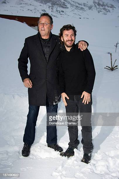 French Actors Jean Reno and Michael Youn attend 'Comme Un Chef ' Photocall during the 15th L'Alpe D'Huez International Comedy Film Festival on...