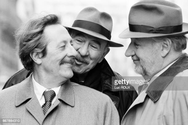 French actors Jean Rochefort JeanPierre Marielle and Philippe Noiret