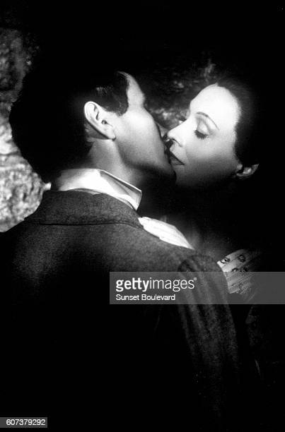 French actors JeanLouis Barrault and Arletty on the set of Les enfants du paradis written by Jacques Prevert and directed by Marcel Carne