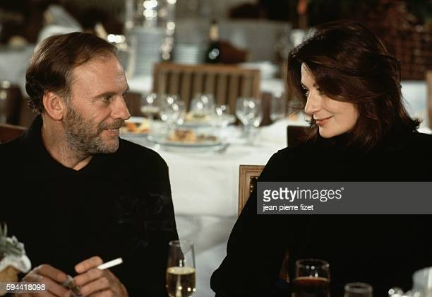French actors JeanLouis Trintignant and Anouk Aimee on the set of Un Homme et une Femme 20 ans déjà written directed and produced by Claude Lelouch