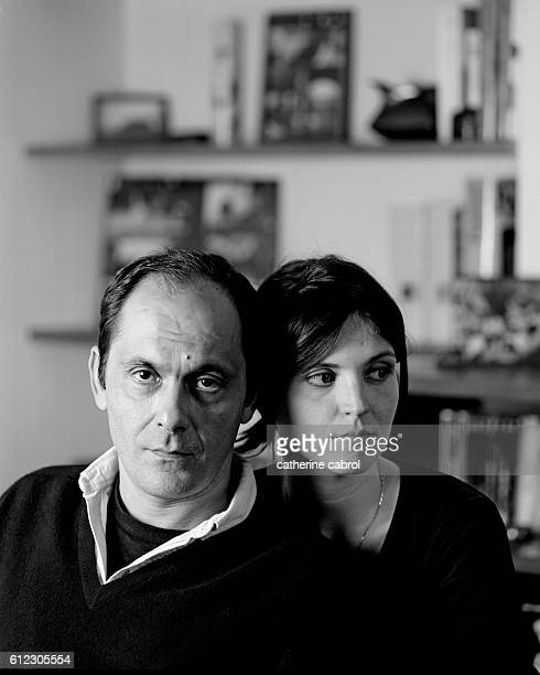 French Actors JeanPierre Bacri and Agnes Jaoui at Home