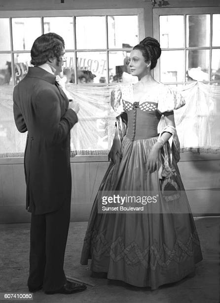 French actors Marcel Herrand and Arletty on the set of Les Enfants du Paradis written by Jacques Prévert and directed by Marcel Carné