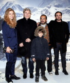 French actors Margaux Chatelier Tcheky Karyo Mehdi El Glaoui Dimitri Storoge and Felix Bossuet pose before the presenttaion of the movie 'Belle and...