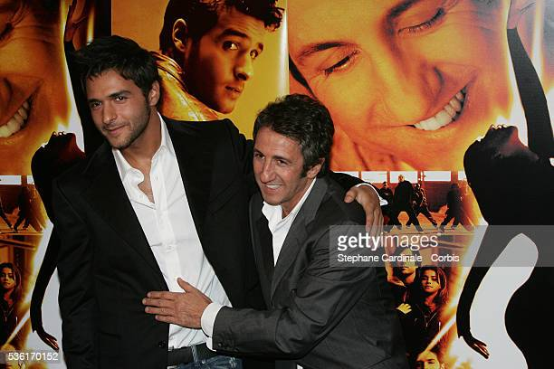 French actors Maxim Nucci and Richard Anconina arrive at the premiere of the movie 'Alive' directed by Frédéric Berthe