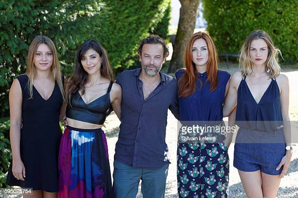 French actors Philippine Stindel Vanessa Guide Patrick Mille Alison Wheeler and Margot Bancilhon attend the 9th Angouleme FrenchSpeaking Film...