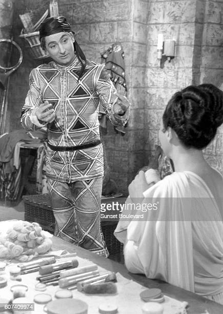 French actors Pierre Brasseur and Arletty on the set of Les Enfants du Paradis written by Jacques Prévert and directed by Marcel Carné