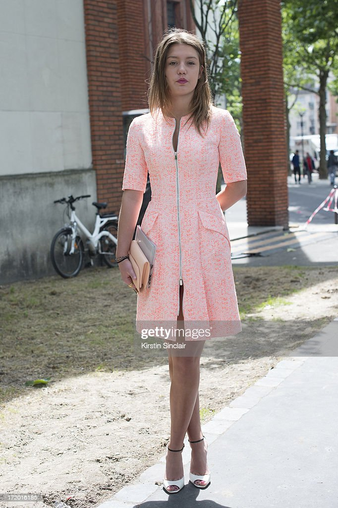 French actress Adele Exarchopoulos on day 4 of Paris Collections: Men on June 29, 2013 in Paris, France.