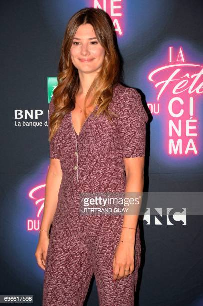 French actress Alice Pol poses during a photocall for the press launch of the 33rd edition of the Fete du Cinema at the Cite du Cinema in SaintDenis...