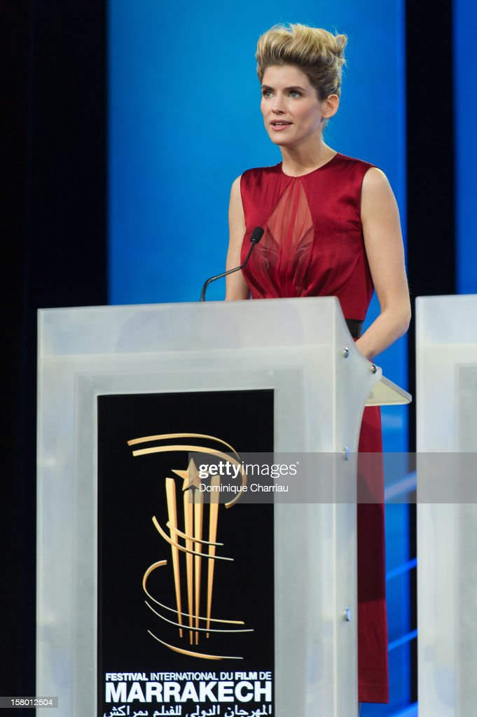 French actress <a gi-track='captionPersonalityLinkClicked' href=/galleries/search?phrase=Alice+Taglioni&family=editorial&specificpeople=2081314 ng-click='$event.stopPropagation()'>Alice Taglioni</a> attends the ceremony awrard of the 12th International Marrakech Film Festival on December 8, 2012 in Marrakech, Morocco.