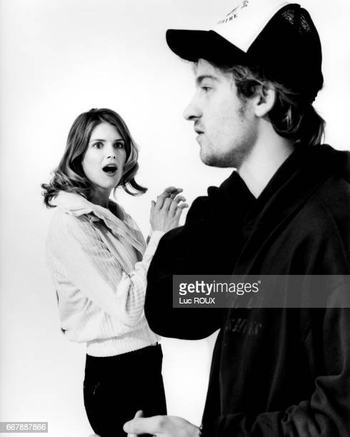 French actress Alice Taglioni with her partner actor Jocelyn Quivrin