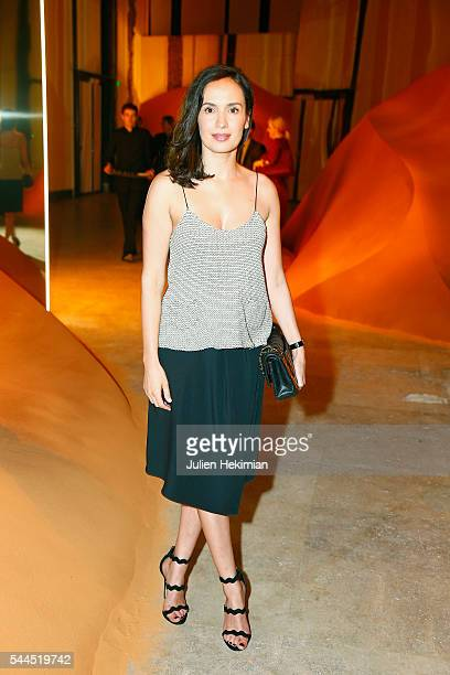 French actress Amelle Chahbi attends the 'Cactus' Cartier Cocktail Party at Palais De Tokyo on July 2 2016 in Paris France
