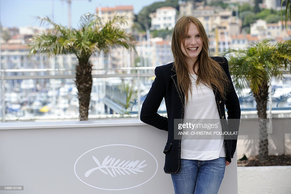 French actress Ana Girardot poses during the photocall 'Simon Werner a Disparu' (Lights Out) presented in the Un Certain Regard selection at the 63rd Cannes Film Festival on May 20, 2010 in Cannes.