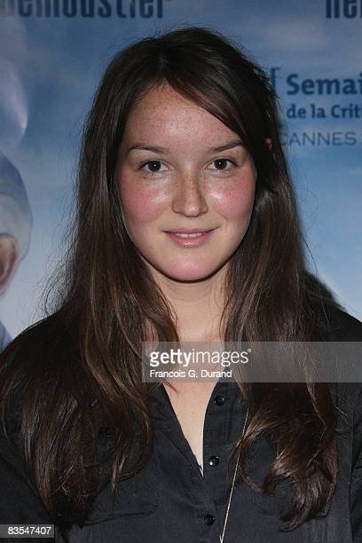 French actress Anais Demoustier attends the 'Les Grandes Personnes' Paris Premiere at the UGC les Halles on November 3 2008 in Paris France