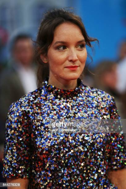 French actress Anais Demoustier poses on the red carpet before the screening of the movie 'Mother' on September 8 2017 in the northwestern sea resort...