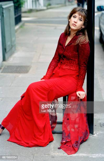 French actress and director Sophie Marceau in London clothes by Dries Van Noten shoes by Dior